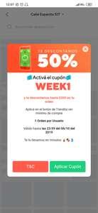Rappi y Tiendita: Cupón de 50% de descuento