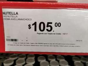 Sam's club: crema de avellana 1kg Nutella