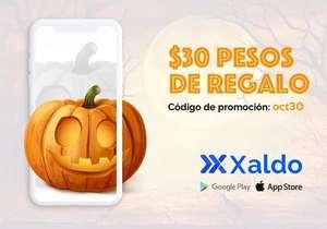 Xaldo: 30 pesos de descuento pago servicios y recargas