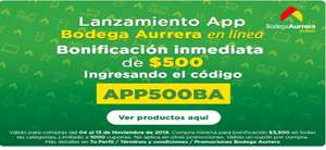 Bodega Aurrera App: Bonificacion de $500 en productos seleccionados. Y 18 MSI en tarjetas participantes