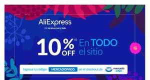 Mercado Pago : -10% de descuento en AliExpress (Nov 11 - 13)