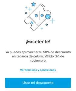 Mercado Pago : 50% de descuento en Recargas AT&T y Unefon (Nov 14 - 20)