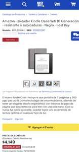 Best Buy: Kindle Oasis 10ª generación