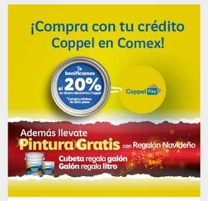 Comex : 20% de bonificacion al comprar pintura con su crédito coppel