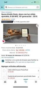 Amazon: Kindle Oasis 10ma generación 2019