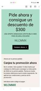 Uber Eats: cupón $300 descuento (nuevos usuarios)