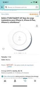 Amazon, Cargador inalámbrico belkin