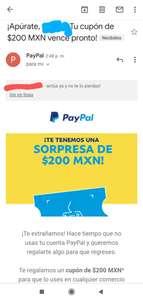 Cupón $200 Paypal (Solo cuentas seleccionadas)