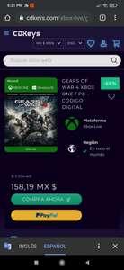 Cdkeys: Gears of war 4 play anyware