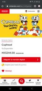 Nintendo eshop: Cuphead para Switch