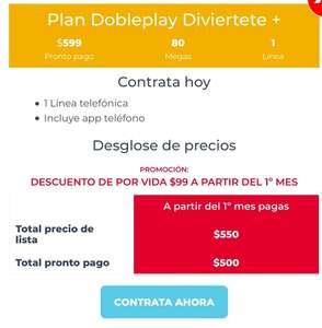 TotalPlay: Paquetes doble Play de 80 y 100 megas desde 500 pesos con opción de Amazon Prime mensual