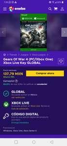 Eneba, Gears Of War 4 (PC/Xbox One) Xbox Live Key GLOBAL
