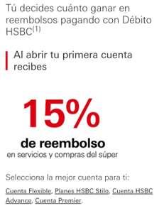 HSBC: compra el súper o paga servicios y recibe reembolso del 15%