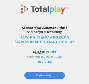 Amazon prime 3 meses gratis con Totalplay
