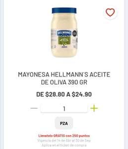 Soriana Híper: 2 x 1 en mayonesa Hellmann's con aceite de Oliva 390 g
