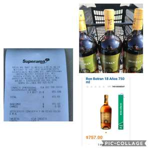 Superama y Walmart: Ron Botran solera, añejo 18 años, 750 ml. en $217.23!!!