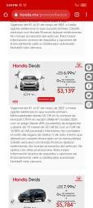 Honda Deals: Honda City con tasa del 6.99% o mensualidades de $3139