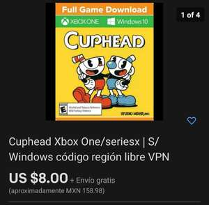 Cuphead digital Xbox Series X / S / one / Windows en Ebay