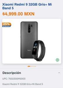 CHEDRAUI APP Y LÍNEA: XIAOMI REDMI 9 32GB + MI BAND 5, $3,449 CON DESCUENTO Y NUEVO USUARIO