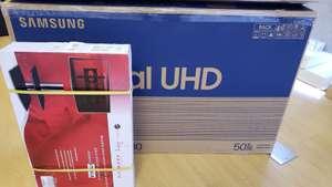 SEARS: Pantalla Samsung 50'' Crystal UHD TU8000 con Alexa + Mueble y Soporte para Pantalla (Más accesorios)