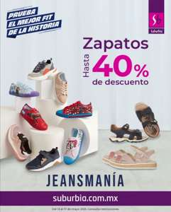 Suburbia: Hasta 40% de descuento en zapatos y tenis + hasta 7 MSI