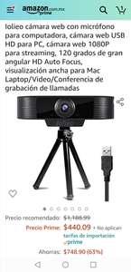 Amazon: Cámara con micro para computadora