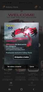 $70 pesos de descuento en compras mayores a $340 Pokémon go galaxy store