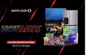 Sam's club: Cuponera hot days del 21 al 31 de mayo 2021