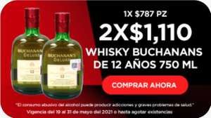 HEB: 2 Buchanan's 12 años x $1100.00