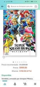 Amazon: Super Smash bros ultimate nintendo switch