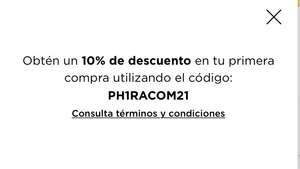 Palacio de Hierro: 10% de descuento en primera compra