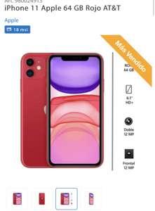 iPhone 11 Apple 64 GB Rojo AT&T SAMS CLUB