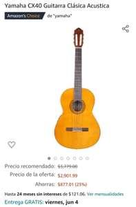 Amazon: Guitarra Clásica Acústica Yamaha CX40