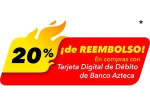 Reembolso 20% Tarjeta Digital Debito BANCO AZTECA