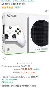 Amazon: Xbox Series S con cupón