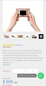 Sanborns: Nintendo Consola Classic Game & Watch
