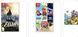 Amazon, Bodega y Walmart: Videojuegos Nintendo Switch (Mario 3d All Stars,Mario 3d world,Zelda y animal Crossing)