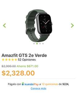 Doto: Amazfit GTS 2e Verde