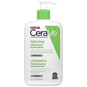 OFERTA RELAMPAGO Amazon CeraVe Limpiadora Hidratante |473ml| Limpiador facial diario para piel seca | Libre de fragancia