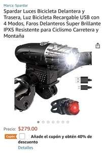 Amazon: Luces de bicicleta para ciclismo