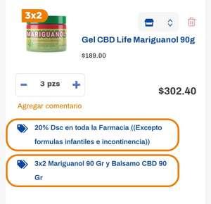 """Chedraui: Ungüento """"Mariguanol""""...tres piezas por $303.00 pesos"""