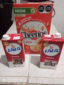 HEB: Combo loco - Compra un cereal de 383gr o más y llevate gratis 2 litros de leche Lala o HCF