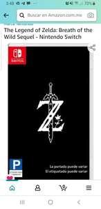 Amazon: The Legend of Zelda: Breath of the Wild Sequel - Nintendo Switch
