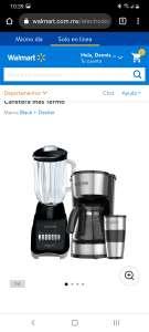 Walmart: Combo Black + Decker Licuadora y Cafetera más Termo