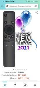 Amazon: Control Remoto Universal Reemplazo para Samsung 4K UHD TV 6 Series 7 Series KU6400 Series