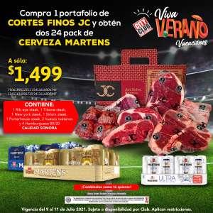 Promoción City Club final Eurocopa: Paquete de carnes cortes finos + 48 cervezas a precio especial