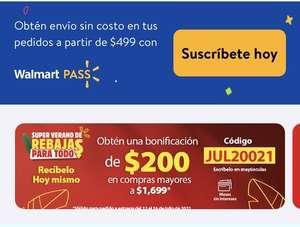 Walmart super: $200 de descuento en súper de 1699