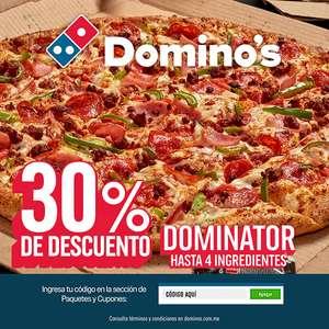 Domino's Pizza: 30% en Dominator y 30% en Crunchy (Alsea)