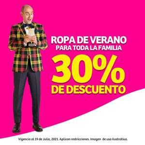 Soriana: Julio Regalado 2021: 30% de descuento en ropa de verano para toda la familia