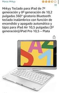"""Amazon Funda con teclado retroiluminado para iPad 7a y 8a de 10.2"""""""
